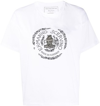 Ermanno Scervino crystal logo detailed T-shirt