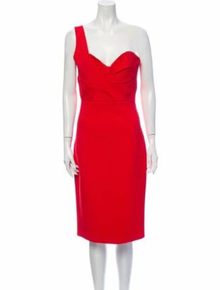 Nicholas Asymmetrical Midi Length Dress Red