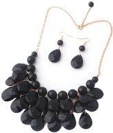 Ilishop Women Bib Statement Jewelry Necklace Earring Set