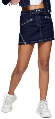 Topshop Pelmet Denim Miniskirt