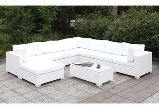 Rosecliff Heights Kuhn 9 Piece Sectional Seating Group with Cushions