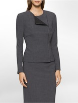 Calvin Klein Asymmetrical Moto Suit Jacket