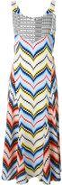 Kenzo chevron midi dress - women - Silk/Polyester - 34