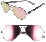 Westward Leaning Women's 'Concorde' 58Mm Aviator Sunglasses - Black Matte/ Black Wire/ Pink