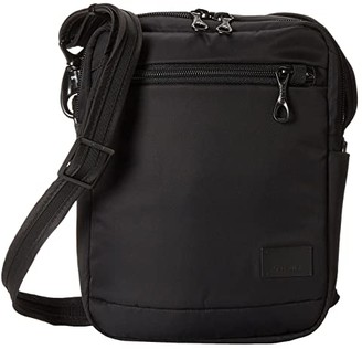 Pacsafe Citysafe CS75 Anti-Theft Crossbody Travel Bag (Black) Cross Body Handbags