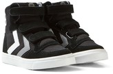 Hummel Black Stadil Canvas High Jr Trainers