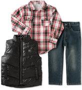 Calvin Klein Little Boys' 3-Pc. Vest, Shirt & Pants Set