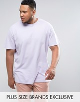 Puma Plus Waffle Oversized T-shirt In Purple Exclusive To Asos