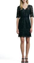 Shoshanna Three-Quarter-Sleeve Lace Dress