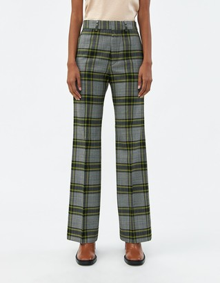 Hope Women's Walk Check Trouser in Green Check, Size 34 | Wool