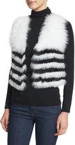Neiman Marcus Fox-Fur Cropped Vest