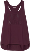Ivy Park Perforated Stretch-jersey Tank - Burgundy