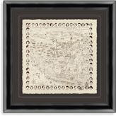 """Bed Bath & Beyond """"Early Hollywood Map of the Stars"""" Framed Art"""