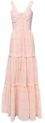 Temperley London Beaux Tie-back Pintucked Swiss-dot Cotton Maxi Dress