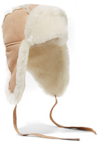 Australia Luxe Collective Raf shearling-lined suede hat