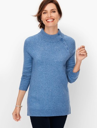 Talbots Funnel Neck Button Detail Sweater