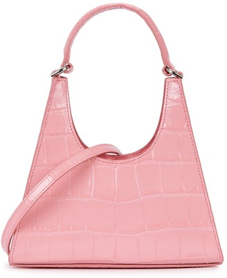 STAUD Rey Mini Crocodile-effect Leather Cross-body Bag