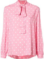 Saint Laurent polka dot lavaliere blouse - women - Viscose - 36