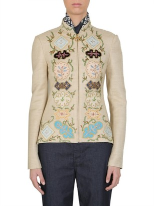 Tory Burch Damian Embroidered Jacket