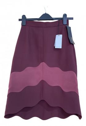 Carven Burgundy Polyester Skirts