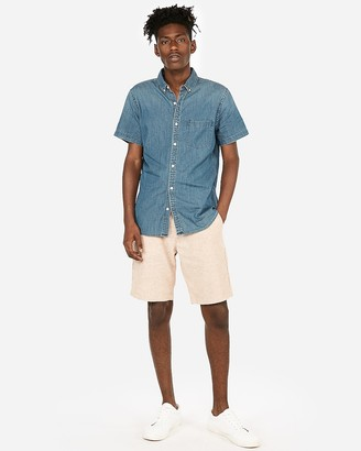 Express Short Sleeve Denim Shirt