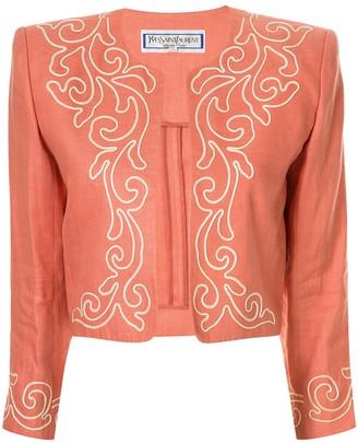 Yves Saint Laurent Pre Owned Linen Toreador Inspired Jacket