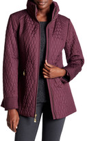 Ellen Tracy Quilted Mock Neck Jacket