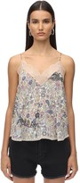 Zadig & Voltaire Zadig&Voltaire Lace & Stretch Muslin Camisole Top