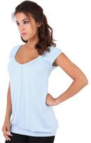 Clothing Women short-sleeved t-shirts Krisp Cute Comfortable T-Shirt Long Design Short Sleeves Casual Top Blue Cute Comfortable T-Shirt Long Design Short Sleeves Casual Top Blue