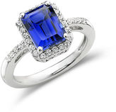 JCPenney FINE JEWELRY Lab-Created Blue & White Sapphire Ring