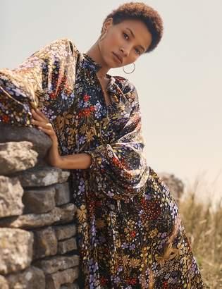 Per Una Per UnaMarks and Spencer Floral Print Shirt Midi Dress