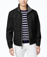 London Fog Men's Big & Tall Packable Flange-Front Stand-Collar Jacket