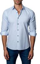 Jared Lang Woven Sport Shirt, Blue/White