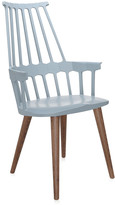 Kartell Comback Four Legs Chair - Grey Blue/Oak