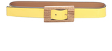 Marni Yellow Leather Belt