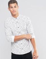 Hugo By Hugo Boss Smart Shirt Slim Fit Ace Print