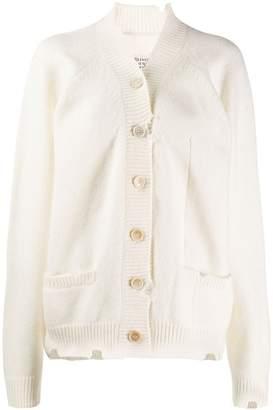 Maison Margiela distressed button up cardigan