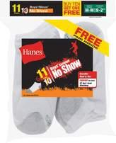 Hanes Boys` EZ-Sort 11-Pack No-Show Socks, 424/11