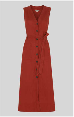Whistles Cody Linen Button Dress