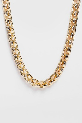 Nasty Gal Womens Leave Me Hanging Chunky Chain Necklace - Gold
