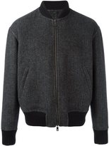 Jil Sander tweed bomber jacket - men - Polyamide/Cupro/Wool/Virgin Wool - 46