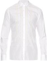 Lanvin Button-cuff pleated cotton-poplin shirt