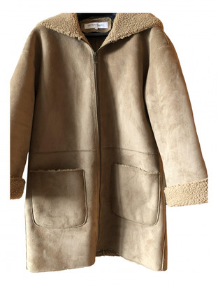Gerard Darel Camel Suede Coats