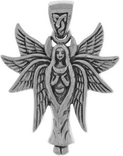 Carolina Glamour Collection Sterling Silver Celtic Angel Fairy with Wings Pendant