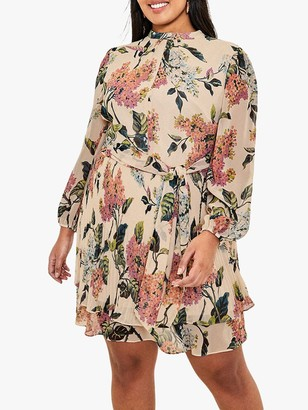 Oasis Curve Floral Dress, Natural/Multi