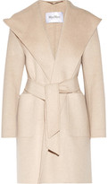 Max Mara Hooded Cashmere Coat - Beige