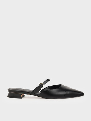 Charles & Keith Mary Jane Strap Flat Mules