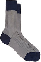 Barneys New York MEN'S RIBBED COTTON-BLEND TROUSER SOCKS