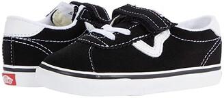 Vans Kids Sport V (Infant/Toddler) (Black/True White) Kid's Shoes