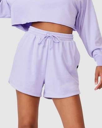 Cotton On Body Active - Women's Purple High-Waisted - Lifestyle On Ya Bike Fleece Shorts - Size M at The Iconic